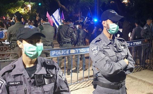 ההפגנה בתל אביב (צילום: N12)