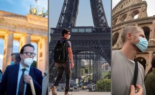 קורונה באירופה - ברלין, פריז ורומא (צילום: AP)