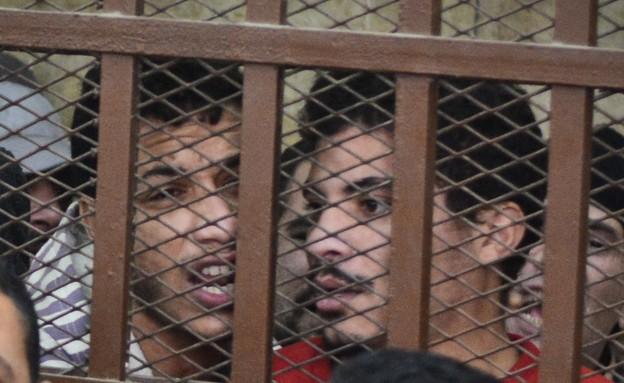 מעצר גברים שבילו בסאונה, 2015 (צילום: OHAMED EL-SHAHED/AFP, GettyImages)