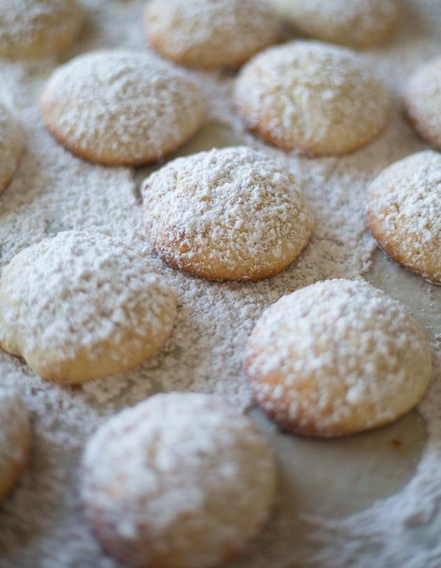 עוגיות גבינת שמנת לימוניות בתבנית
