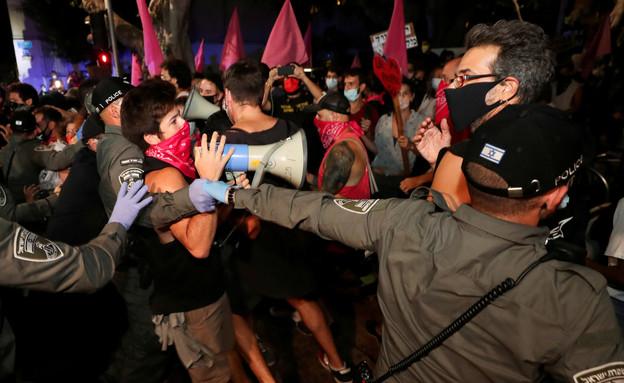 הפגנות  (צילום: שי פרנקו, רויטרס)