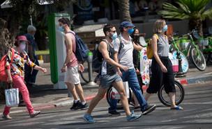 קורונה בתל אביב (צילום: מרים אלסטר, פלאש 90)