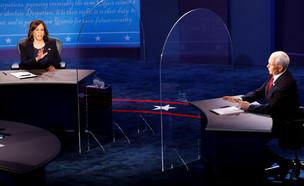 העימות בין פנס והאריס המועמדים לסגנות בארצות הברית (צילום: רויטרס)