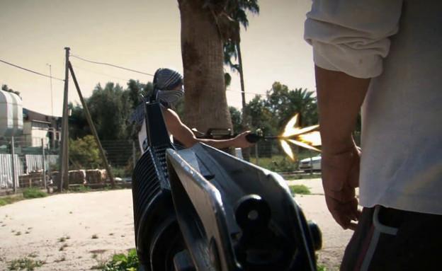ערן דוד מקבל אות על פעולתו (צילום: יחידת ההיסטוריה והמחקר ומוזיאון משמר הגבול)