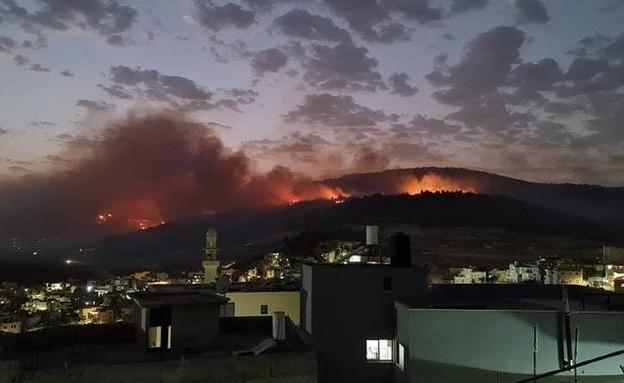 שריפות באזור דבוריה (צילום: יוסף יוסף )