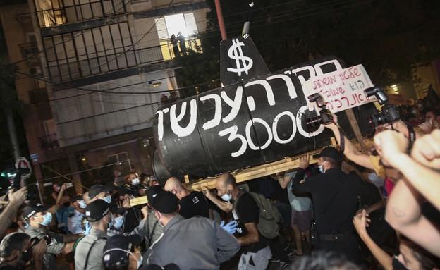 עימותים בהפגנות (צילום: מרים אלסטר, פלאש 90)