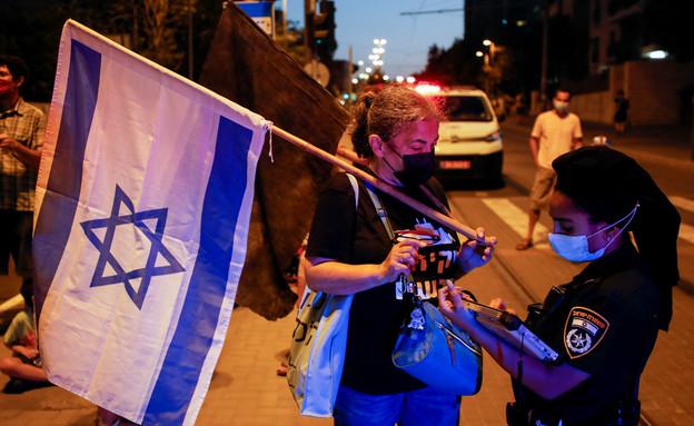 הפגנות נגד נתניהו בירושלים (עיבוד: אוליבר פיטוסי, פלאש 90)