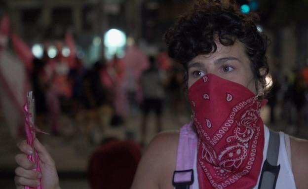 כלנית שרון, פעילת החזית הורודה (צילום: חדשות  12, חדשות 12)