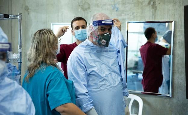 """המחלקות של חיל הרפואה בבית החולים רמב""""ם (צילום: דובר צה""""ל )"""