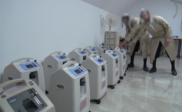 המערך החשאי של טיפול בחולים במצב קשה בחברה החרדית  (צילום: החדשות 12, חוסין אל אוברה)