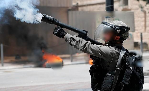פיזור מהומות (צילום: THOMAS COEX/AFP, GettyImages)