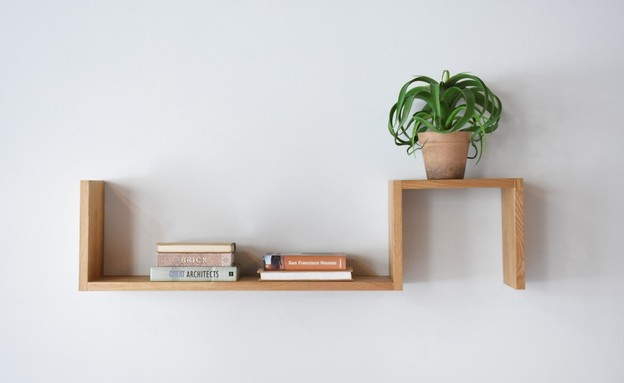 מדפים, מדף עץ, רהיטי טבע, 496 שקל (צילום: סיון מויאל)