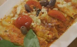 קנלוני ברוטב רוזה (צילום: מתוך אמהות מבשלות ביחד, ערוץ 24 החדש)
