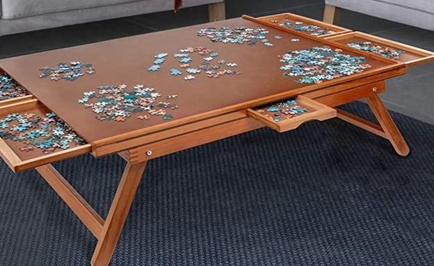 שולחן פאזלים (צילום: אמזון)