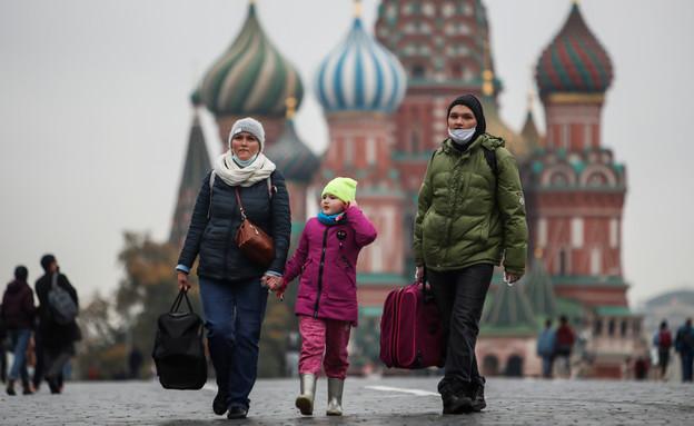 רוסיה בזמן קורונה - קרמלין (צילום: Maxim Shemetov, רויטרס)