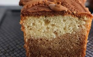 עוגת שיש לוטוס פרווה מהבלוג קווין אוף קייק (צילום: חסי סגל, קווין אוף קייק)