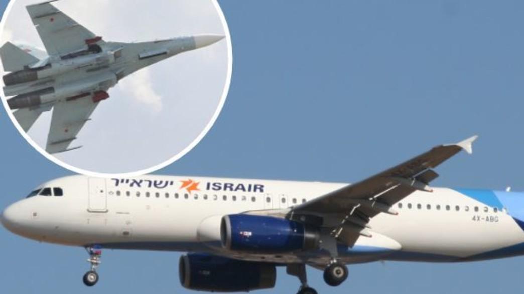 מטוס נוסעים ומטוס הקרב (צילום: PIOTR POLAK/AFP/GettyImages/Oyoyoy@Wikimedia)