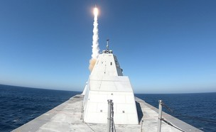 הספינה בשיגור (צילום: usnavy, Twitter)