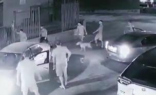 זירת הרצח בבאר שבע (צילום: מצלמת רחוב)