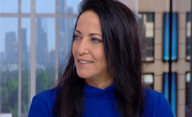 """עם פתיחת הקלפיות: ליהיא לפיד בראיון (צילום: מתוך """"חדשות הבוקר"""" , קשת 12)"""