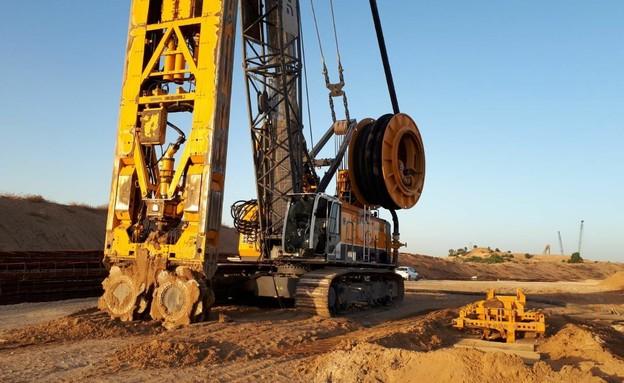 הקמת המכשול התת קרקעי בגבול עזה