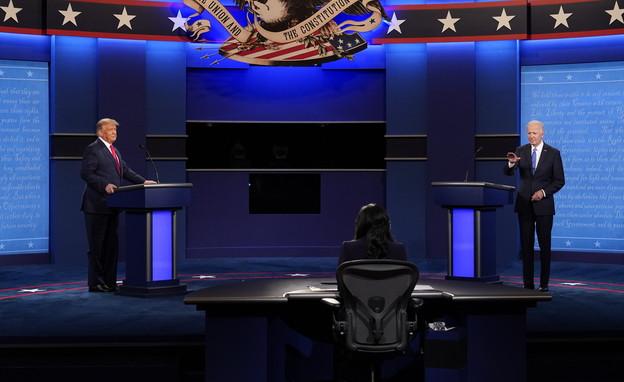העימות השלישי בין טראמפ לביידן (צילום: AP)
