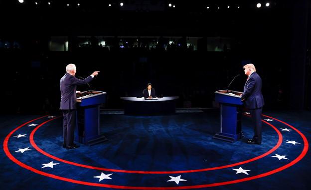 רגע לפני הבחירות: העימות בין טראמפ וביידן (צילום: רויטרס)