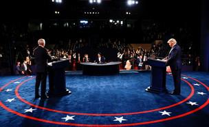 העימות הנשיאותי בין ג'ו ביידן לדונלד טראמפ; (צילום: רויטרס)
