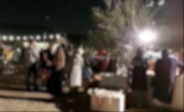 חתונה ביער בן שמן (צילום: דוברות המשטרה)