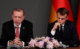 נשיא צרפת עמנואל מקרון, נשיא טורקיה ארדואן ב-2017 (צילום: רויטרס)
