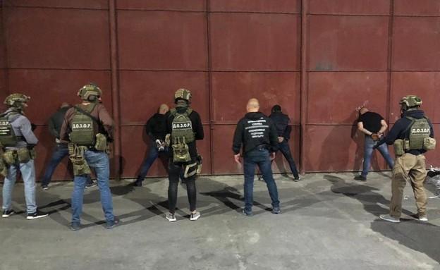"""4 ישראלים נעצרו באוקראינה כשברשותם 120 ק""""ג קוקאין (צילום: מתוך כלי התקשורת באוקראינה)"""