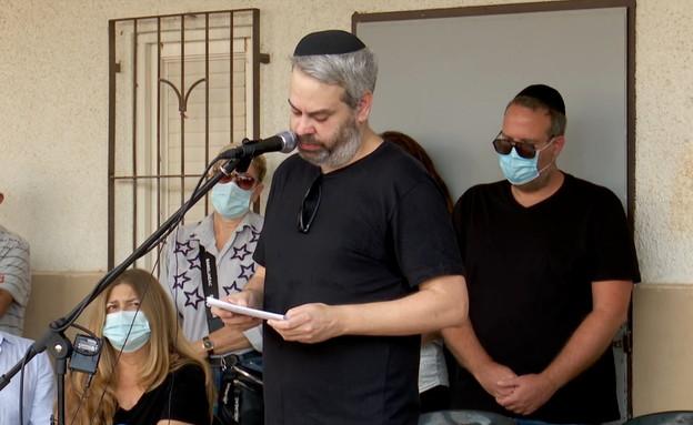 הלוויתו של יהודה בארקן  (צילום: החדשות 12)