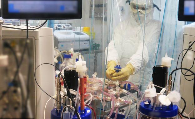 מעבדת המכון למחקר ביולוגי (צילום: משרד הביטחון והמכון למחקר ביולוגי)