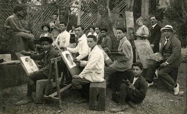 איך נראתה פעם האקדמיה בישראל (צילום: התמונה נמסרה לארכיון בצלאל באדיבות משפחת בדרשי. קרדיט: בצלאל, ירושלים)