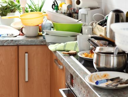 מטבח מלוכלך  (צילום:  Ingrid Balabanova, Shutterstock)