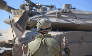 """טנקים בפעולה (צילום: דובר צה""""ל)"""