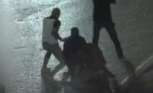 מעצר זורק בקבוקי תבערה (צילום: דוברות המשטרה)