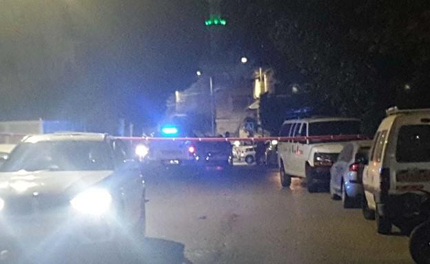 זירת הירי בבאקה אל גרביה (צילום: דוברות המשטרה)