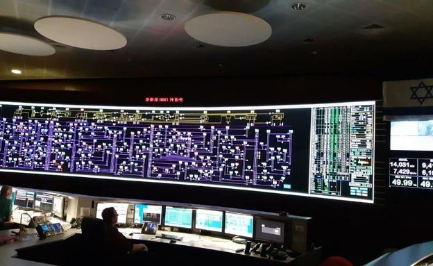 חדר הפיקוד של חברת החשמל (צילום: חברת החשמל)