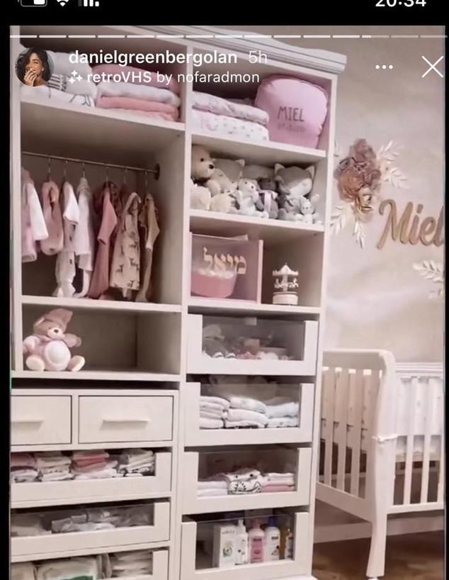 החדר של מיאל גולן (צילום: מתוך instagram)