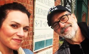 הילארי ברטון וג'פרי דין מורגן (צילום: אינסטגרם - hilarieburton)