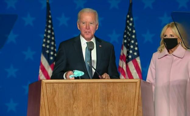 ג'ו ביידן בנאום (צילום: AP)