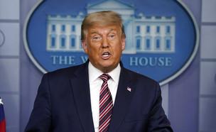 טראמפ בבית הלבן (צילום: AP)