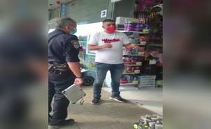 שוטרים מגיעים לביג קריית גת (צילום: מתוך תיעוד שעלה ברשתות החברתיות, שימוש לפי סעיף 27א' לחוק זכויות יוצרים)