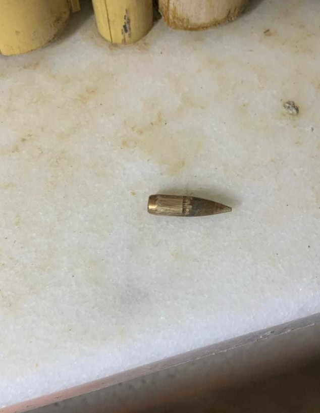 ירי לעבר עומר (צילום: צילום פרטי)