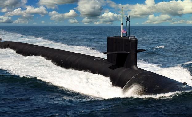 הצוללת (הדמיה: U.S. Navy)