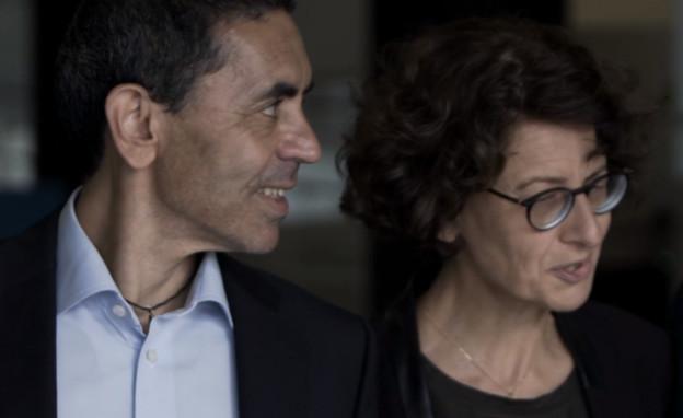 בני הזוג שהקימו את BionTech (צילום: sky news)