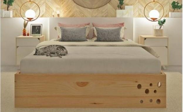 מיטה (צילום: אינטסגרם catlife.co)