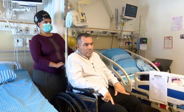 חולה קורונה קשה מונשם (צילום: החדשות 12, החדשות12)