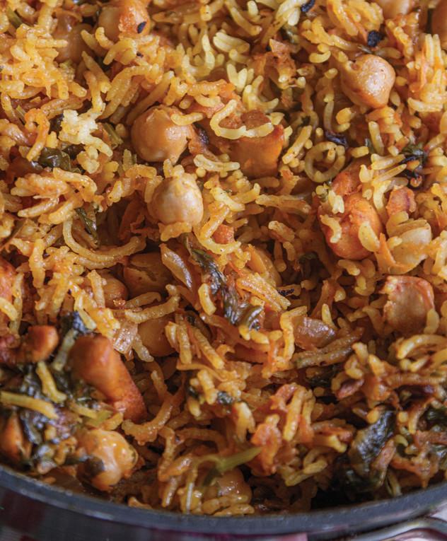 סיר אורז עם פרגיות